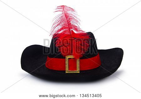 Pirate hat isolated on white