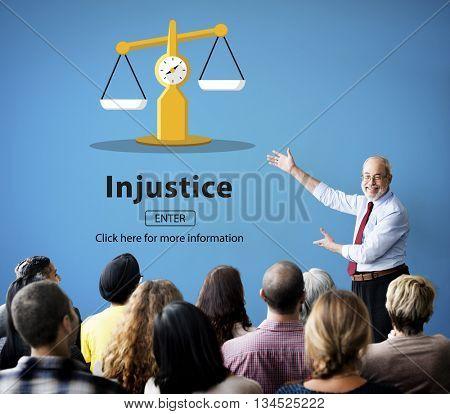 Injustice Inequity Conflict Rebellion Antagonism Concept