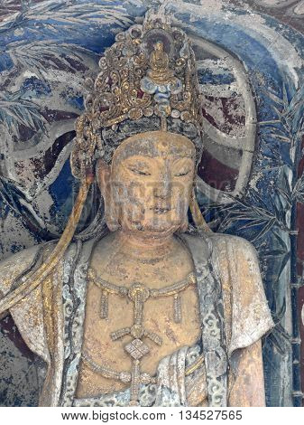 he complex of Buddhist rock sculptures Piludong located about 45 km south-east of the county capital Anyue, province Sichuan, China. The most impressive part of the complex are grotto of Buddha Vairocana (Pilu dong) and the famous sculpture of Guanyin.
