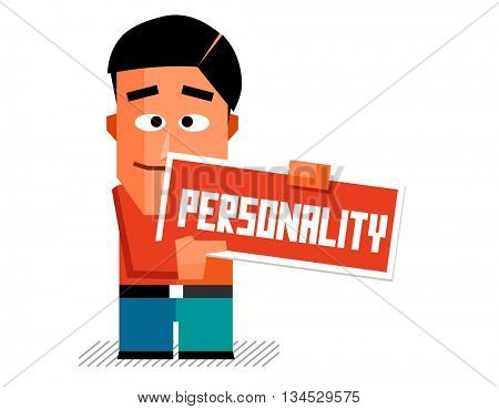 Personality graphic. Flat vector illustration.