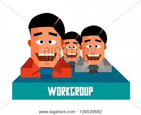 Workgroup graphic. Flat vector illustration.