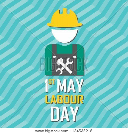 May 1St Labor (labour) Day Illustration Conceptual Construction Stock Vector.eps10