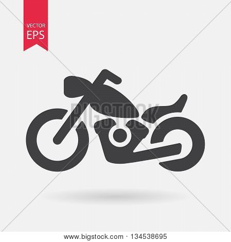 Motorcycle Icon Vector. Flat design. Simple sign isolated on white background