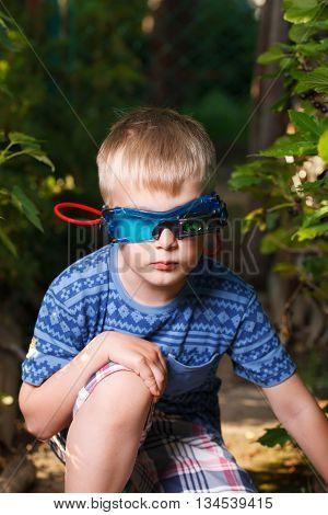 Kid In Glasses And Shirt Looks Like Spy
