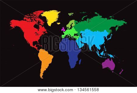 World map borders colored black vector photo bigstock world map with borders colored black background gumiabroncs Images