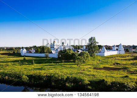 Intercession (pokrovsky) Monastery In Suzdal.the Golden Ring Of Russia