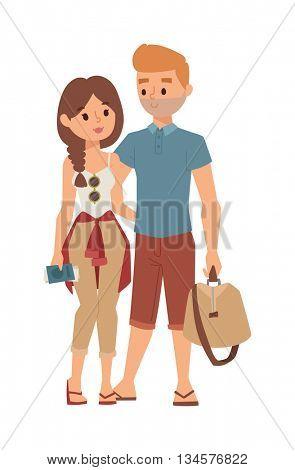 Trip abroad vector illustration.