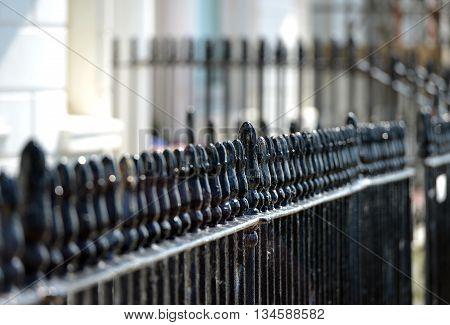 Georgian wrought iron railings in Brighton Sussex