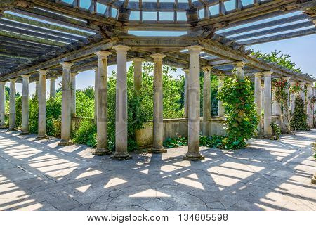 Hampstead Pergola and Hill Garden in London England
