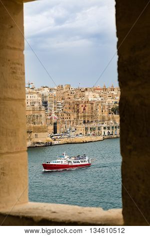 The View Through The Windows Watchtower In Senglea