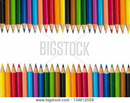 Stock Photo - Multicolored pencils isolated on white background