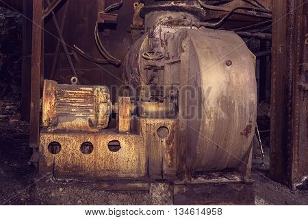 Old Blower Fan In Blast Furnace Workshop