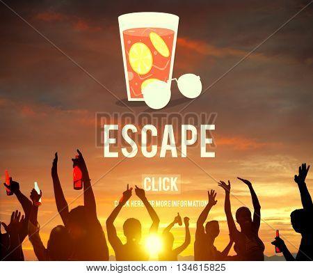 Escape Freedom Exit Crisis Concept