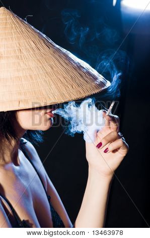 Woman In The Vietnamese Hat