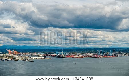 A view of a the Port of Tacoma.