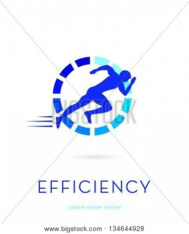 MAN SILHOUETTE RUNNING , VECTOR LOGO / ICON
