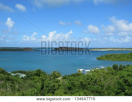 Antiguan Islands Overview on the Caribbean Sea