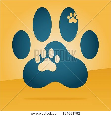 paw print of a cat floating in the air
