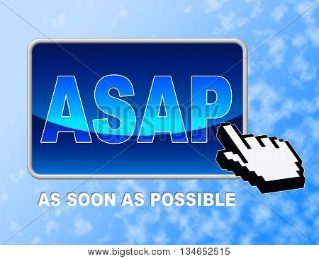 Asap Button Represents Web Site And Cursor