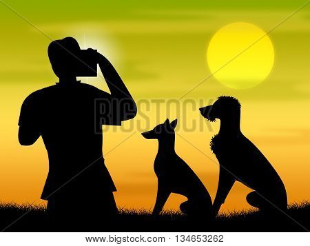 Dogs Photo Means Photographer Camera And Puppies