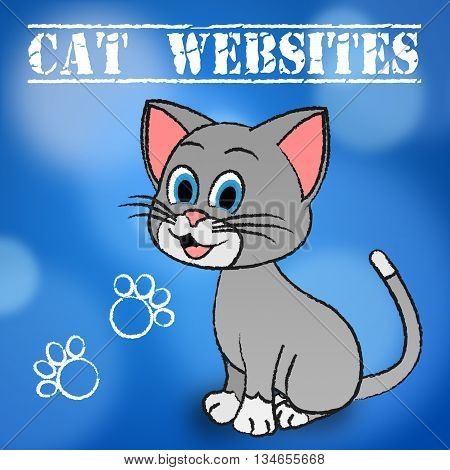 Cat Websites Showing Puss Pets And Internet poster