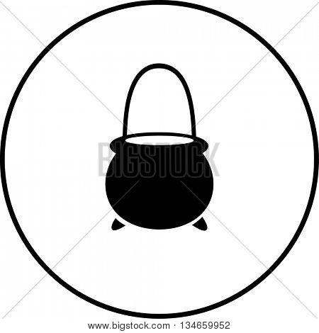 witch cauldron shaped pail symbol
