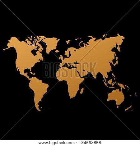 Vector y foto vector world map on black bigstock vector world map on black background doodle world map vector world map eps gumiabroncs