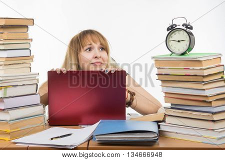 The Student Looks At His Watch And Realizes That The Exam Is Already Close