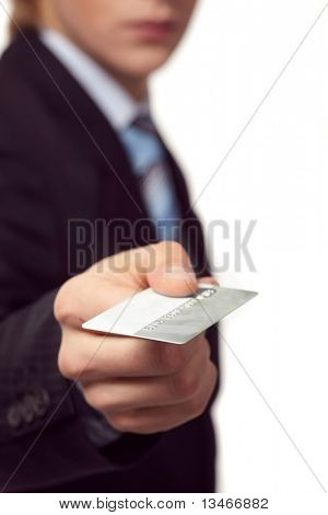 Credit card in the hand