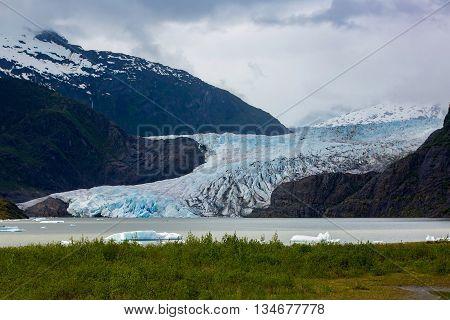 Mendenhall Glacier Near Juneau In Alaska