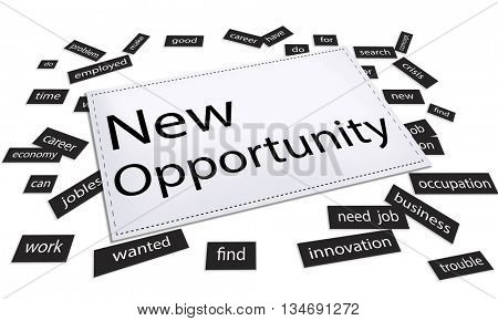 New Opportunity Chance Choice Decision Occasion Opportunities Concept