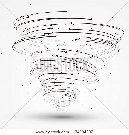 Vector Tornado,Points and lines constitute, Abstract graphics.