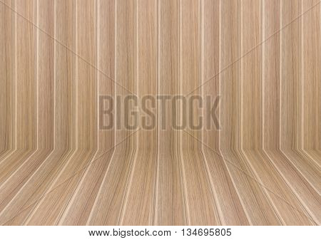 Perspective lines of wooden floor stock photo