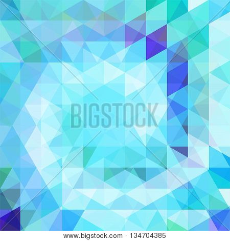 abstract blue background, square simple vector illustration