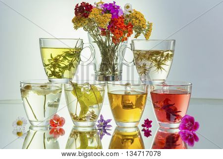 healthy natural beneficial teas.great miracle of nature