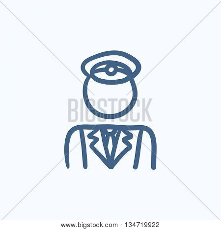 Conductor vector sketch icon isolated on background. Hand drawn Conductor icon. Conductor sketch icon for infographic, website or app.