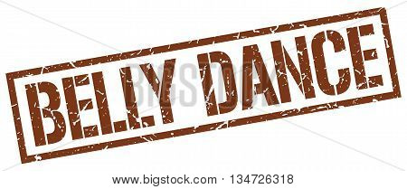 Belly Dance Stamp. Vector. Stamp. Sign. Belly.dance. Brown.