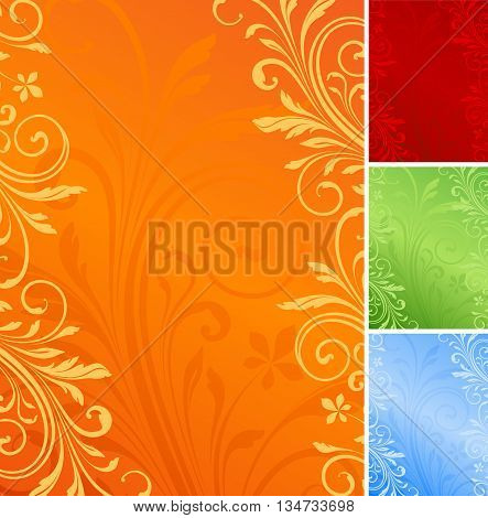 Vector floral background. Use for invitations, greeting cards, posters and brochure.