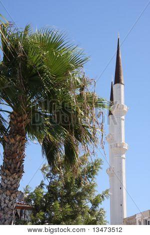 Minaret Turgutreis Turkey