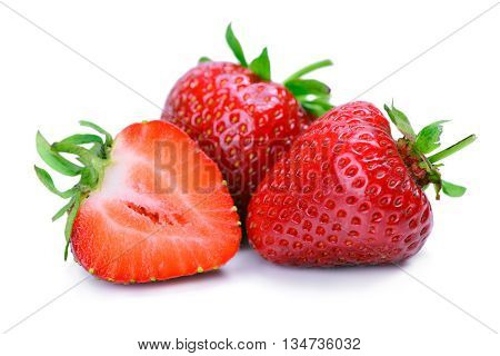 Strawberries Isolated On A White