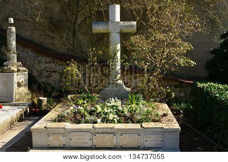 Giverny France - february 29 2016 : the Claude Monet tomb