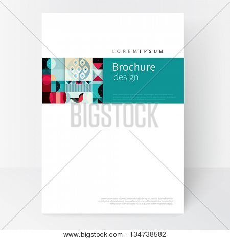design creative concept cover for book, catalog, report, brochure, poster.Modern abstract background. Blue, black, red and green abstract geometric shapes. vector-stock EPS 10