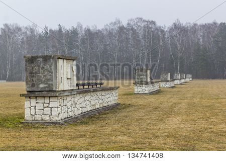 SZTUTOWO, POLAND - MARCH 18: Area of the New Camp in the Nazi concentration camp in Sztutowo on March 18, 2012 in Sztutowo.