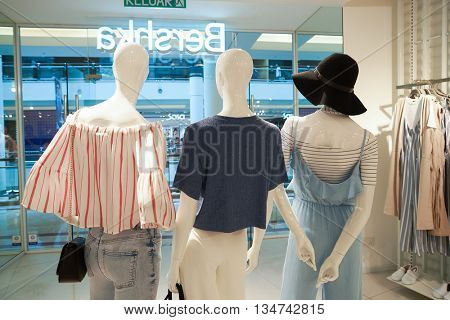 KUALA LUMPUR, MALAYSIA - MAY 09, 2016: Bershka store in Suria KLCC. Suria KLCC is alocated in the Kuala Lumpur City Centre district. It is in the vicinity of the landmark the Petronas Towers.