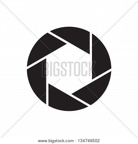 The Diaphragm Icon. Aperture Symbol. Flat Illustration