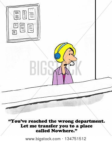 Business cartoon about really bad customer service.