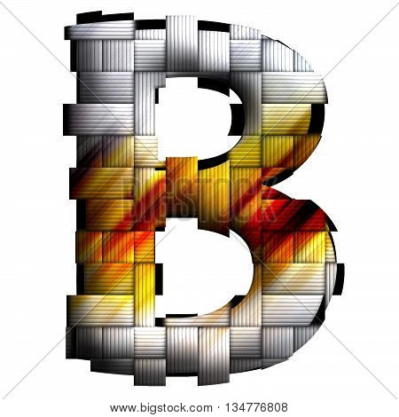 Alphabet Letter In Weave Style
