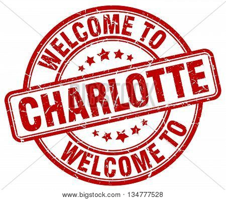 welcome to Charlotte stamp. welcome to Charlotte.