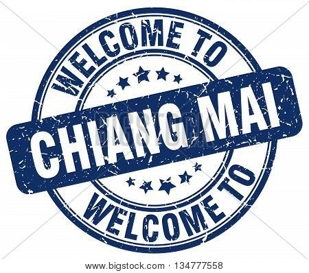 welcome to Chiang mai stamp. welcome to Chiang mai.