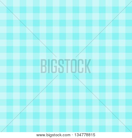 Seamless gingham pattern background - teal and light teal